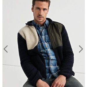 Lucky Brand Sherpa Colourblock jacket $99.00